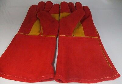 2 pairs x SWP  Stitched Leather Size 10 Mig Welding Gloves / Gauntlet
