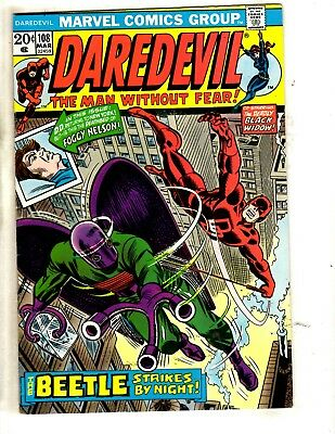 Lot Of 8 Daredevil Marvel Comic Books # 108 189 195 (2) 202 (2) 203 226 JL12