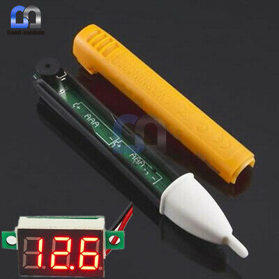 LED Light Voltage Alert Pen AC Voltage Power Detector 3-Digital Red Voltmeter