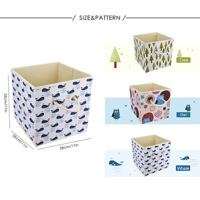 Folding Foldable Fabric Cube Storage Box Books Clothes Kid Toys Organiser Basket