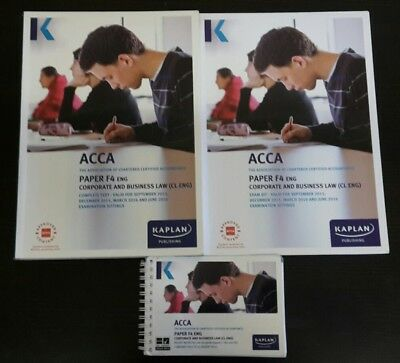 KAPLAN ACCA F4 Corporate and Business Law (CL-ENG) Text, Exam Kit and  Pocket Not