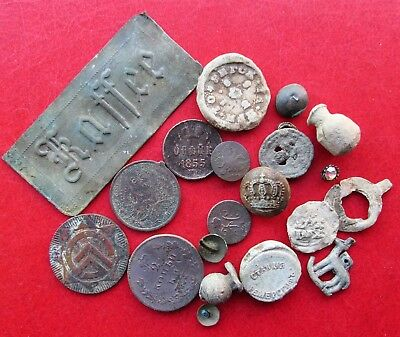 Mixed lot of metal detector finds found