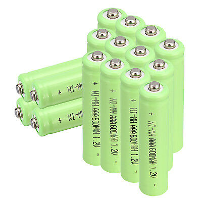 1.2V 600mAh Ni-MH NiMH AAA Rechargeable Battery - QTY 2/4/8/12/16/20/24 - Green