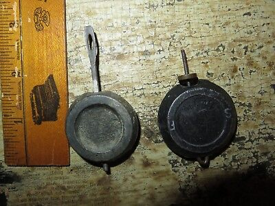 New Haven brennus ? Antique Clock Replacement Pendulum Bob parts Lot of 2