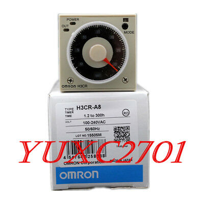 New Omron H3CR-A8 H3CRA8 Solid State Timer 100-240VAC 50/60HZ