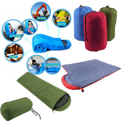5°C Single Sleeping Bag Outdoor Camping Tent Thermal Sheet Sack Hiking Envelope