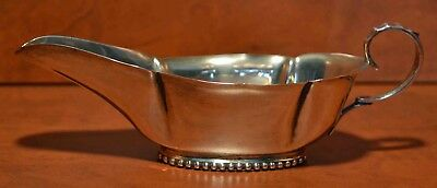 Antique  Small Solid Silver Sauce Boat