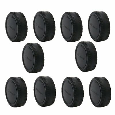 10pcs Plastic Body Cover Cap Camera Rear Lens Cap For Fujifilm Fuji FX X-Mount