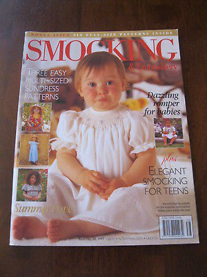 Australian Smocking: Issue no. 38, 1997: Pattern sheet Attached. :Preloved