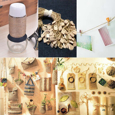 100M Roll Natural Jute Rope DIY Cord String Craft Making House Shop Hotel Decor