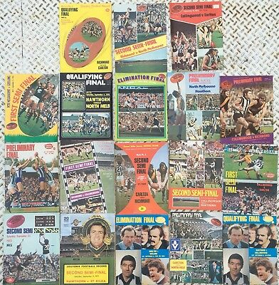 Lot Of 18 Vfl 1970's Football Finals Records - Many With Golden Fleece Adverts