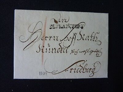 Brief Frankfurt nach Friedberg mit Inhalt 1784