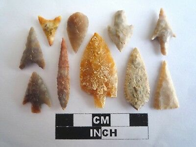 Neolithic Arrowheads x 10, High Quality Selection of Styles - 4000BC - (2122)