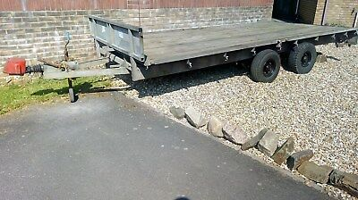 Ifor Williams Flat Bed Trailer car 14ft x 6'6ft