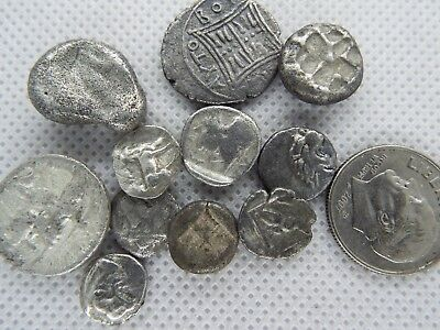 33-1. LOT OF 11pcs GREEK ASSORTED SILVER FRACTIONs  ANCIENT COINS 100BC - 200 BC