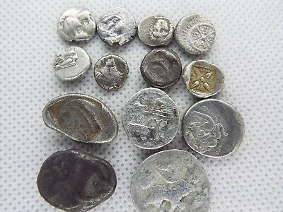 80-1   LOT OF 13pcs GREEK ASSORTED SILVER   ANCIENT COINS 100BC - 200 BC