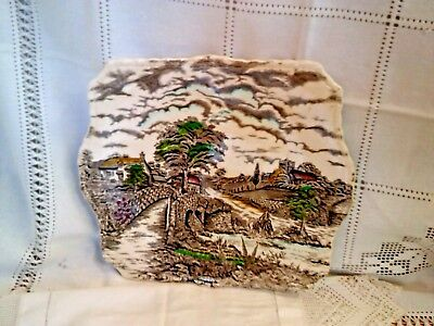 Vintage Myott Square Shaped England's Charm Plate  Myott for sandwiches/cakes AF