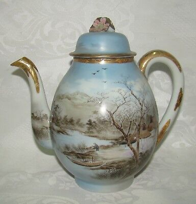 Antique Asian China Chinese Japanese Porcelain Teapot Hand Painted