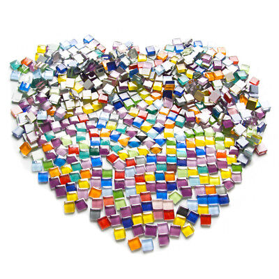 100g Assorted Color Square Glass Mosaic Tiles For DIY Crafts Supplie