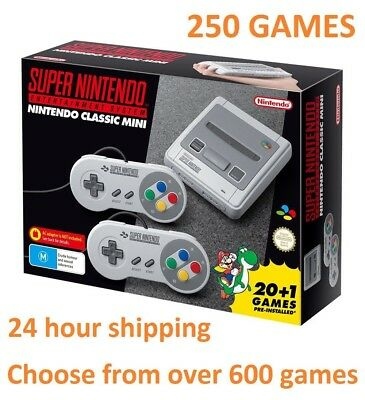SNES Classic Mini with 250 In-Built Games free express post