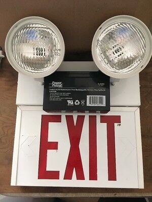 Red Exit Light  With Emergency Lights LED AC SURE-LITES 1 or 2 SIDED UNH1SRWDH