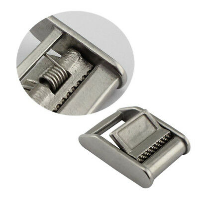 2pcs 25mm Marine 316 Grade Stainless Steel Cam Buckle for Tie-Down Straps