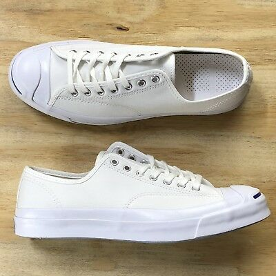 fb13428f60f Converse Jack Purcell Signature Ox White Blue Low Top Casual Shoe 147564C  Size
