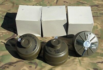 LOT x3 UNUSED SEALED DANISH CIVIL DEFENCE DRAGER NATO 40mm NBC GAS MASK FILTERS