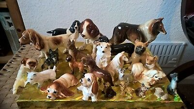 Collection of porcelain dogs (24) and one wade Bambi!