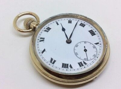 Superb Antique 9ct Rolled ELGIN Gold Pocket Watch ILLINOIS case Swiss Made Fob
