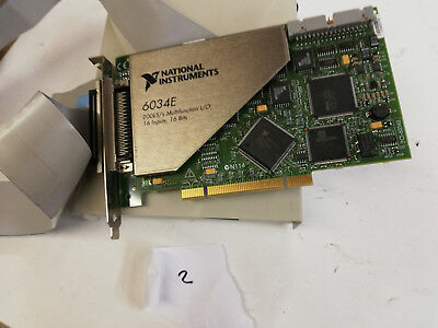 National Instruments PCI-6034E NI DAQ card with SCB-68 connection card and cable