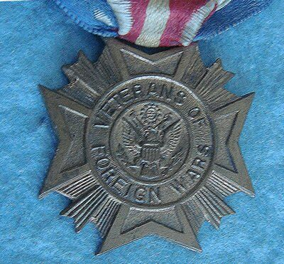 Vintage (VFW) VETERANS OF FOREIGN WARS Medal / Fob & Ribbon; Convention Attendee