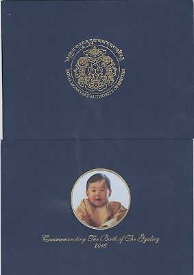 Bhutan 2016,(2018),100,ngultrum.royal Baby Commemorative With Folder Unc,,