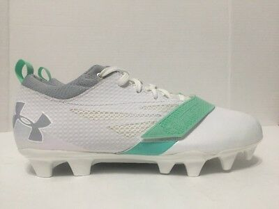 Under Armour Womens Size 9 Lacrosse Cleats White Teal Finisher MC 1278783-103