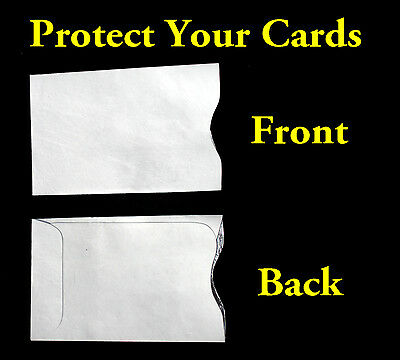 5 Tyvek RFID Chip Secure Credit Card Protector Theft Protection Envelope Sleeves