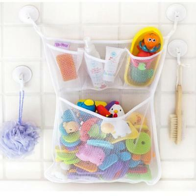 Kids Baby Bath Time Toy Tidy Storage Suction Cup Bag Mesh Bathroom Net Lh