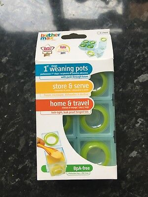 Brother Max Weaning Pots - Brand New