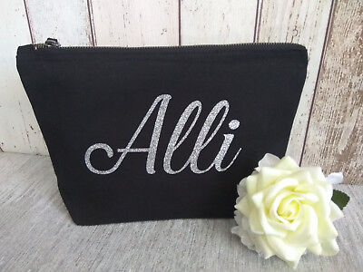 Personalised MakeUp Bag- accessories bag -wash cosnetic -bag glitter name gift