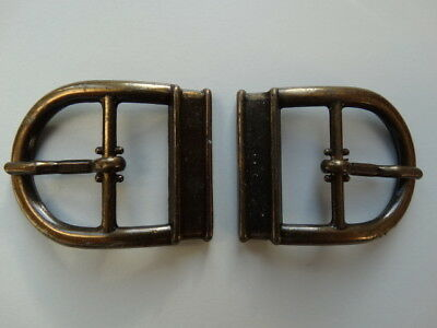 1 x Pair 22mm Monk Buckles - Accessories for Shoes Leather goods craft clothing