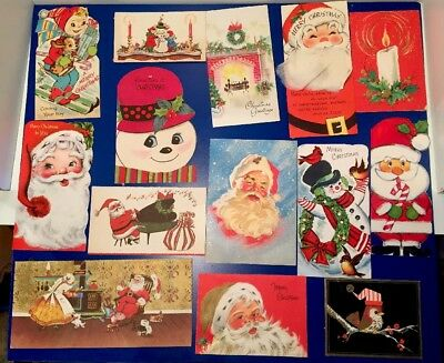 Lot of 23 Vintage 1960's Christmas Greeting Cards~Used~Signed~Scrapbooking
