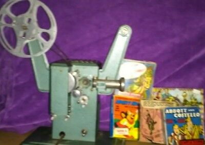 VINTAGE 16MM FILM PROJECTOR HAPPI TIME with 5 Films