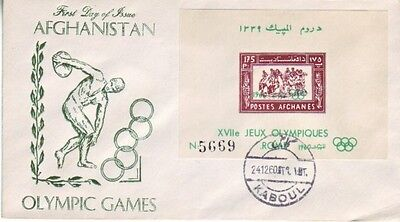 Afghanistan - Olympic Games, Rome 1960 (M/S PO FDC) 1960