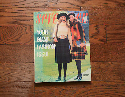SEVENTEEN magazine August 1970 Giant Fashion Issue 390 pages mod hippie