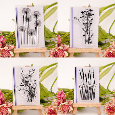 Transparent Silicone Clear Rubber Stamp Sheet Cling Scrapbooking Cards DIY Decor