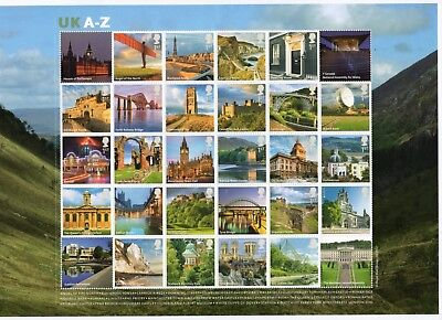 GB 2012 UK A-Z mini / miniature sheet unmounted mint MNH m/s stamps Smiler