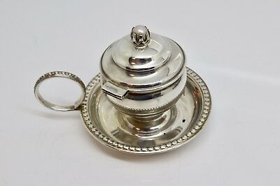 A Vintage 1993 Solid Silver Candle Stick Chamber Stick Holder
