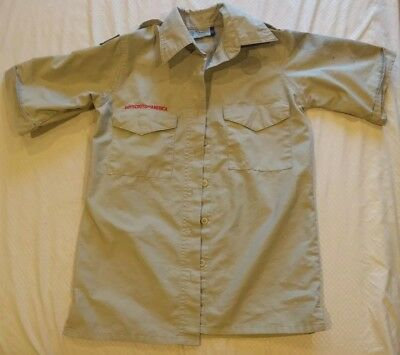 Women's Boy Scouts of America Uniform Shirt Tan Size X-Small Ladies BSA