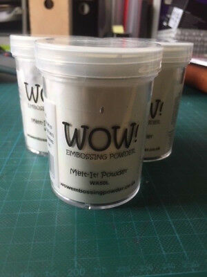 Wow Melt It Clear Embossing Powder Pots 160ml - 2 New 1 Half Used