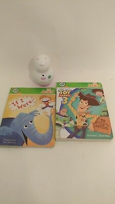LeapFrog Tag JR Junior Learning System Reader & 2 Books + connector cord