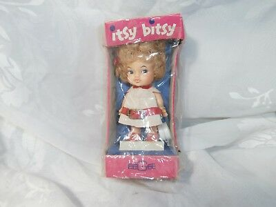 """Vintage 4"""" Eegee Itsy Bitsy Shopper Doll 1966 Super Rare In Original Package!"""